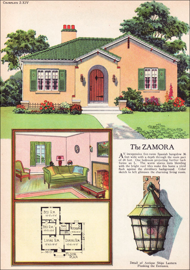 1927 radford zamora spanish eclectic style small house for American small house design