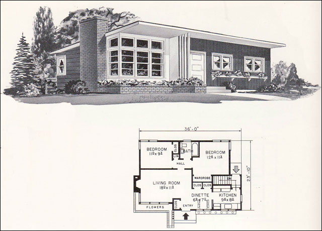 Small house living little homes old homes kit homes for Retro house plans